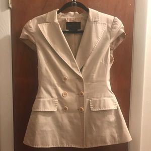 BCBG Max Azaria Short Sleeve Blazer Medium